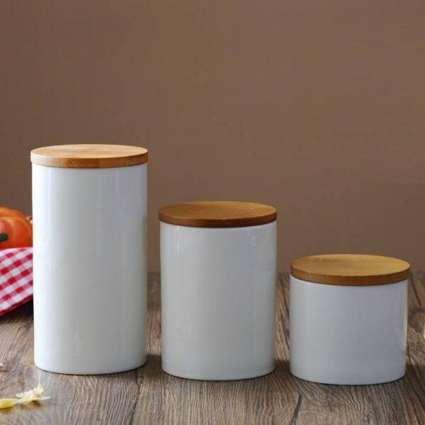 Ceramic Kitchen Jar Kitchen 6f6cb72d544962fa333e2e: Large|Medium|Small